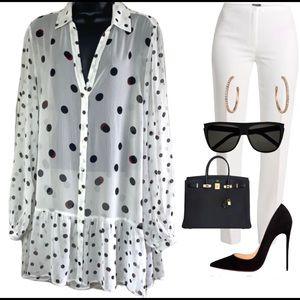 NWT🌺Love&Legend plus size polka dot blouse size18